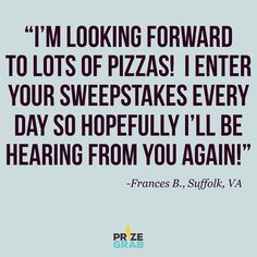 Enjoy your $100 Domino's gift card Frances!