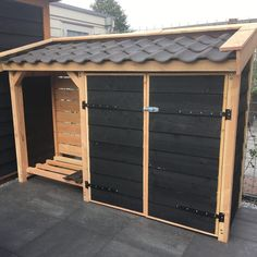 Bicycle Storage Shed, Outdoor Storage Sheds, Storage Shed Organization, Wood Storage, Mini Shed, Bin Store, Garden Tool Shed, Carport Designs, Tool Sheds