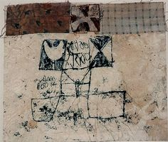 Hannelore Baron (1926-1987), Untitled, 1981. Mixed media collage. 15.5cm H x 17.8cm W.
