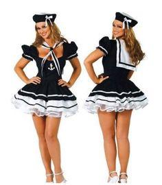 121752e95c0 Queen s Park Sexy Flirty Sailor Pin up Girl Dress Outfit Women s Adult  Halloween Costume Size Xl (Size  XL