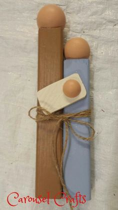 Wood craft. Nativity craft. Christmas craft. By Carousel Crafts.