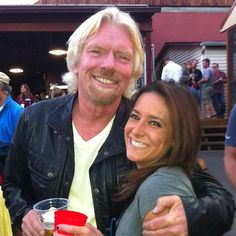 Richard Branson and Monica Fineis - Virgin Mobile's FreeFest - Friends Gathering For A Higher Calling