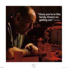 The Sopranos--Tony iQuote Poster Print 16x16