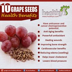Benefits Of Grape Seed Extract - a lot of my products contain this ...