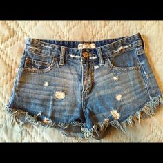 Free People Shorts Cute cut-off, high-waisted shorts; great for summer and festival season! (Worn twice) Free People Shorts Jean Shorts