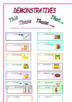this and that and these worksheets - بحث Google‏