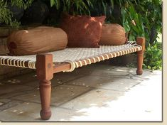 charpoy - can I order and ship it from Malaysia? charpoy - can I order and ship it from Malaysia? Handmade Furniture, Home Furniture, Furniture Design, Bois Diy, Indian Furniture, Indian Home Decor, Sisal, Home Projects, Decoration