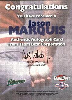 1999 Team Best - Autographs #NNO37 Jason Marquis Back