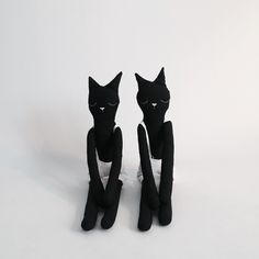 We only have 2 cats left! These are handmade by @vanessa_byrne  I cannot stress how well made and perfect they are  they are also really tall and make great dancing partners - oh and they are so robust. I love them. #corky #cat #blackandwhite #worldwideshipping #handmade
