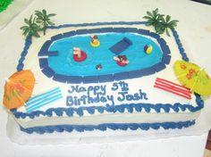 cute swim party cake