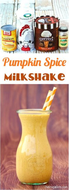 Pumpkin Spice Milkshake Recipe! ~ from TheFrugalGirls.com ~ this EASY shake is SO delicious and absolute pumpkin perfection!  Just 5 ingredients and you've got the ultimate flavors of Fall!