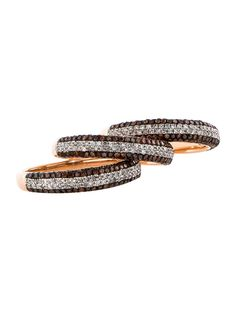 Chocolate Diamond Stackable Rings - ooh these are pretty.