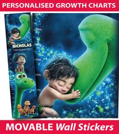Personalised The Good Dinosaur Growth Height Chart Wall Sticker - Buy direct from the printers and SAVE Movable Walls, Personalized Growth Chart, Height Chart, The Good Dinosaur, Kids Growing Up, All Wall, Printers, Wall Stickers, Charts