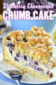 Blueberry Cheesecake Crumb Cake Blueberry Cheesecake is my favorite flavor combo - crumb cake and blueberry cheesecake. Crumb cakes or coffee cakes are totally acceptable for breakfast. At least that's my excuse to eat dessert as soon as I get out of bed. Blueberry Cheesecake, Blueberry Recipes, Cheesecake Recipes, Blueberry Cake, Cheesecake Deserts, Easy Blueberry Desserts, Breakfast Cheesecake, Blueberry Yum Yum, Köstliche Desserts
