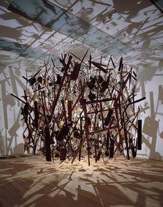 Cornelia Parker- Cold dark matter exploded view