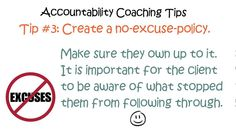 http://coachestrainingblog.com/becomeacoach/accountability-coaching-tips/17188/ Coaching tips can help life coaches to effectively use the various tools in their coaching tool box. One of the most important tools coaches have is the skill of accountability. This is a very powerful tool when a life coach learns how to use it strategically. Accountability is a benefit for the client. It's not meant to be a micromanagement tool for the life coach.