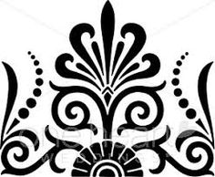 Image result for black and white flower stencil