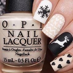 Holiday mani by @nailsbycambria @opi_products #notd #manicure #nailart #mattenails #nailstagram