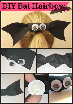 Halloween Bat Hairbow Hair bow Love this halloween hair accessory! Halloween Bats, Holidays Halloween, Happy Halloween, Halloween Decorations, Halloween Ideas, Light Fixture Makeover, Unicorn Ornaments, Favorite Holiday, Making Ideas