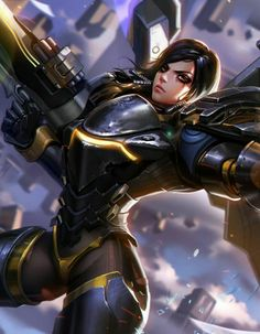 """I'm not a big fan of overwatch but this is pretty cool cyberclays: """" Pharah - Overwatch fan art by Liang xing Overwatch Comic, Overwatch Fan Art, Overwatch Digital, Fanart Overwatch, Overwatch Drawings, Overwatch Genji, Game Character, Character Design, Overwatch Wallpapers"""