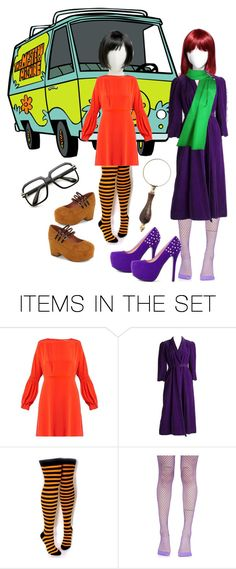 """""""Velma & Daphne"""" by cheeseburger-jones ❤ liked on Polyvore featuring art"""