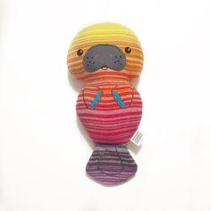 13 Manatee Plush Stuffed Animal Under the Sea by LittleSwingShop