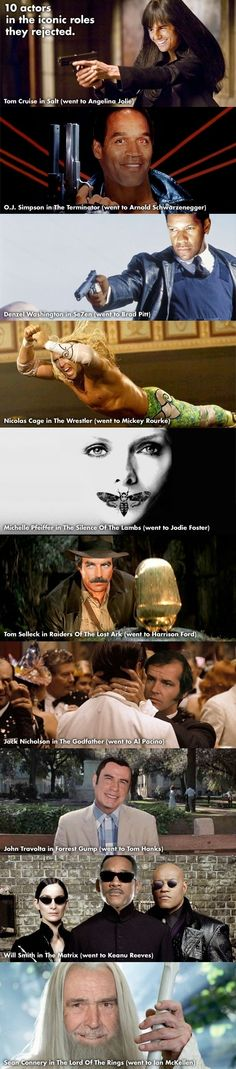 Actors & roles they rejected // funny pictures - funny photos - funny images - funny pics - funny quotes - #lol #humor #funnypictures