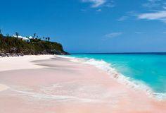 Playa Rosada en Bahamas
