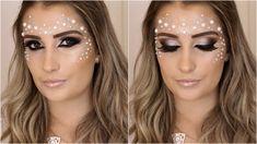 Maquiagem carnaval 2016 Delicada com pérolas e strass (Maquiando cliente)