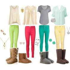 colored skinny jean outfits