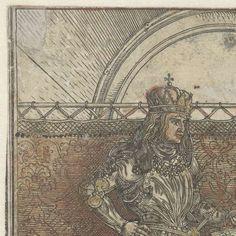 Het Bourgondische huwelijk: Maximiliaan trouwt met Maria van Bourgondië, Albrecht Dürer, 1515 - Rijksmuseum