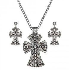 Western Deco Beaded Cross Jewelry Set (JS1422RTS)