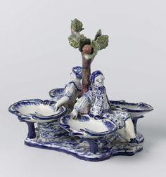 Delft figural salt, factory De Porceleijne Claeuw, 1750 - 1775. Rijksmuseum…