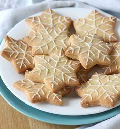 Dairy-Free Lemon Almond Shortbread Snowflakes
