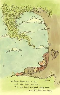 The Giving Tree by Shel Silverstein. A fantasic and timeless children's book :)