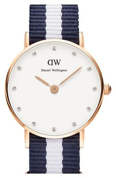 Daniel Wellington 'Classy Glasgow' Crystal Index NATO Strap Watch, 26mm available at #Nordstrom