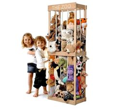 The Zoo Stuffed Animal Storage | Kid Crave  Would be pretty easy to make