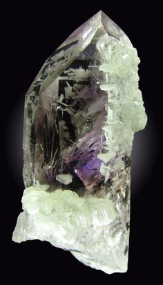 + Quartz Var. Amethyst with Prehnite / Mineral Friends <3