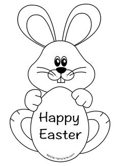 27 Best easter bunny template images | Easter bunny, Happy easter ...