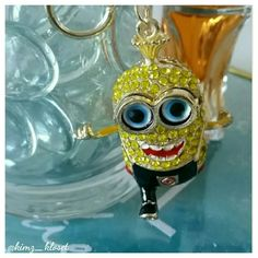 Crystal Minion Handbag Charm Cute yellow crystal minion key chain  & handbag charm. Super cute! Accessories Key & Card Holders