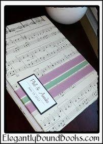 Elegantly Bound Books: Vintage Sheet Music Wedding Theme