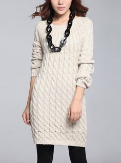 Beige/ Black loose style knit women sweater by happyfamilyjudy, $86.99