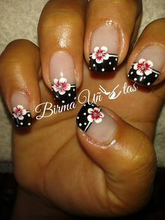 Nails Diy Nails, Cute Nails, Pretty Nails, Vintage Nails, Gel Nail Art Designs, Vacation Nails, French Tip Nails, Flower Nail Art, Beautiful Nail Designs