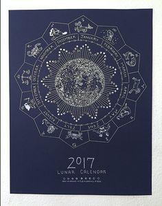 Lunar Calendar 2017 by ThisMightHurtonEtsy on Etsy