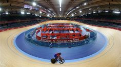 Japan trains at the London Olympic Velodrome