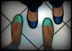 """possibly need to """"glitterize"""" an old pair of flats"""