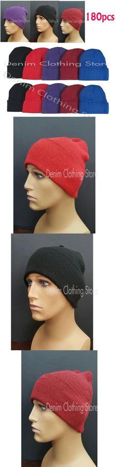 Mens Accessories 45053: 180Pcs Men Women Mix Beanie Knit Ski Cap Skull Cuff Winter Hats Wholesale Lots -> BUY IT NOW ONLY: $265 on eBay!
