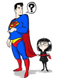 Draw me Edna Mode from The Incredibles with a hatred of capes. Artist /u/Glynrick. (To be fair Superman isn't subject to the same issues that lead to Edna's rule) Disney Pixar, Disney Memes, Disney And Dreamworks, Disney Love, Disney Magic, Disney Characters, Edna Mode, Chuck Norris, Marvel Dc