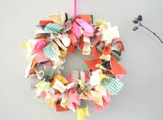 DIY Thanksgiving Fabric Wreath