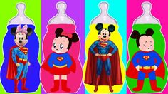 Mickey Mouse Baby Bottle Wrong Heads, Learn Colors with Mickey Mouse & M...